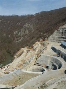 Izgradnja brane Arilje-profil Svračkovo